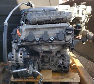 2007 2008 Acura Tl 3 2 Vtec V6 Engine Motor With Alternator Ac Compressor Oem