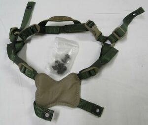 Gentex ACH Helmet 4 Point Chin Strap With Hardware Foliage Green New Without Tag