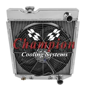 4 Row Ace Champion Radiator W 16 Fan For 1964 1965 1966 Ford Mustang V8 Engine