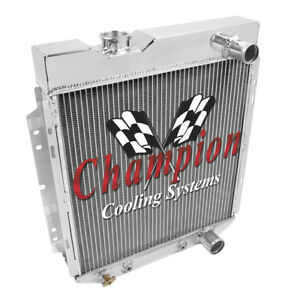 4 Row Ace Champion Radiator For 1964 1965 1966 Ford Mustang V8 Engine