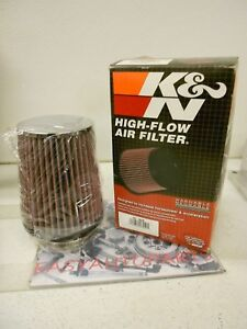 K n Rc 4630 Universal Chrome Round Tapered Air Filter 3 5 Flange 6 5 High New