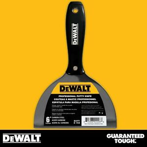 Dewalt Putty Knife 6 Carbon Steel Joint Knife Flexible Paint Scraper