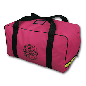 Pink Female Ladies Volunteer Firefighter Breast Cancer Turnout Gear Duffle Bag