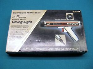 Vintage Sears Craftsman Inductive Advance Timing Light 28 2194