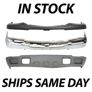 Brand New Complete Steel Front Bumper Kit For 2003 2007 Silverado