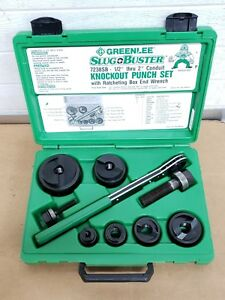 Greenlee 7238sb Slugbuster Knockout Metal Punch Set W Wrench Driver nice