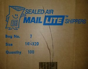 100 7 14 25 X 20 Sealed Air Mail Lite Shippers Kraft Bubble Mailers