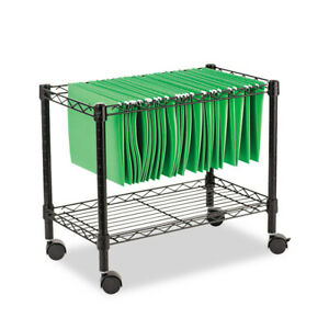 Alera Single tier Rolling File Cart 24w X 14d X 21h Black Fw601424bl New