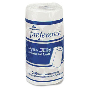 Georgia pacific Perforated Paper Towel 8 4 5x11 White 250 roll 12 ctn 27700 New