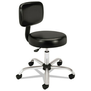 Hon Medical Exam Stool With Back 24 1 4 X 27 1 4 X 36 Black Mts11ea11 New