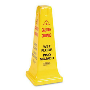 Rubbermaid 25 5 8 4 sided caution wet Floor Safety Cone 627777 New