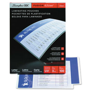 Swingline Ezuse Thermal Laminating Pouches Letter Size 100 Per Box 3745003 New