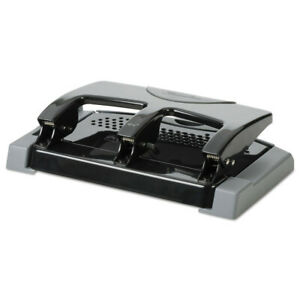 Swingline 45 sheet Smarttouch Three hole Punch 9 32 Holes black gray 74136 New