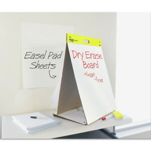 3m Dry Erase Tabletop Easel Unruled Pad 20 X 23 White 20 Sheets 563de New