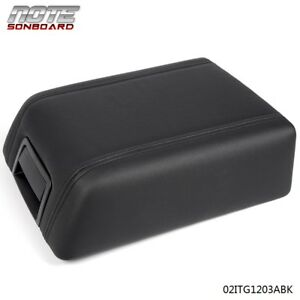For Ford F 150 2004 2008 Black Leather Center Console Arm Rest Lid Cover Pad Oem