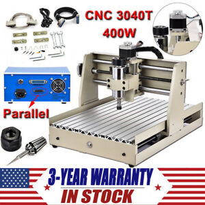 4 Axis Desktop Cnc Router Engraver 400w Engraving Milling Drilling Machine 3040t
