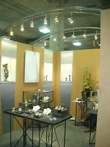 10 X 10 Custom Built Jewelry Exhibit Booth Incl Trailer For Storage