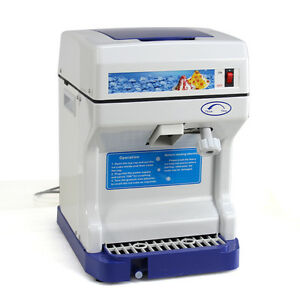 Used Tabletop Electric Ice Shaver Machine Ice Crusher Shaved Ice Snow Cones Make