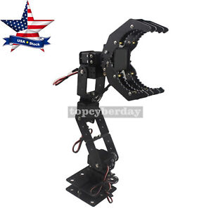 6dof Robot Mechanical Arm Hand Clamp Claw Manipulator Frame For Arduino us