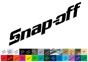 Snap Off Decal Sticker Snap On Tools Tool Box Technician Mechanic Joke Spooff