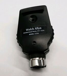 Welch Allyn Standard Otoscope Head 11710 With Working Halogen Bulb Used Tested