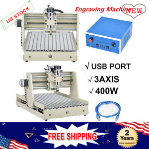 400w 3 axis 3040 Usb Cnc Router Engraving Drill Machine Carving Cutter Desktop