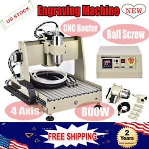 4 Axis 800w Cnc 3040 Router Engraving Machine Diy Wood 3d Carving Desktop Cutter