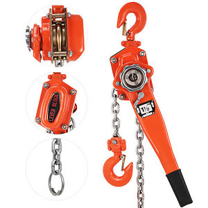 1 1 2ton 10ft Ratcheting Lever Block Chain Hoist Come Along Puller Pulley Hot
