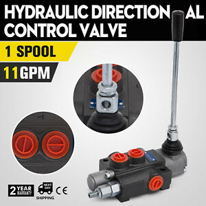 1 Spool Hydraulic Directional Control Valve 11gpm Log Splitters Adjustable