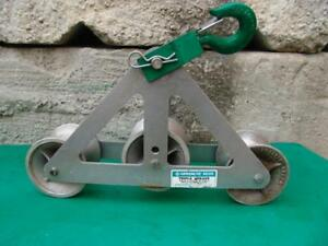 Greenlee Triple Sheave 6036 For Cable Wire Tugger Puller Great Shape 2