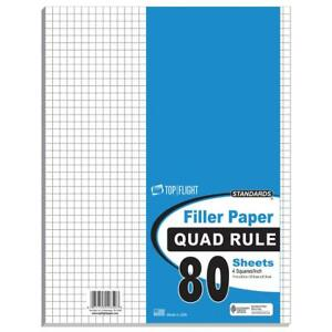 80 Count Quad Ruled Filler Paper 11 X 8 5 Case Of 12