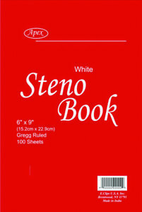 Steno Note Book 100 Sheets Case Of 48