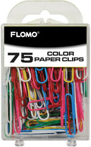 75 Count Color 50 Mm Paper Clips Case Of 48