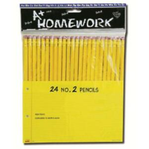 Pencils 24 Pack No 2 Lead Case Of 48
