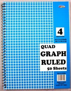 Graph Ruled Spiral Book Case Of 60