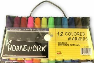 Mini Markers 12 Pack Asst Colors Case Of 48