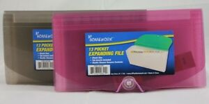 Expanding File 13 Pocket Assorted Colors Case Of 24