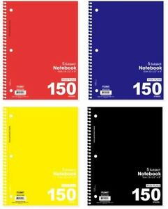 5 Subject Wide Rule 150 Sheet Notebooks Case Of 48