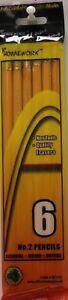 Pencils 6 Pack No 2 Lead Case Of 48