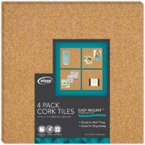 Board Dudes Cork Tile Boards 4 Pack Case Of 4