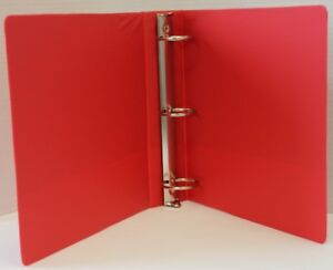 1 Basic 3 ring Binder W Two Inside Pockets Red Case Of 12