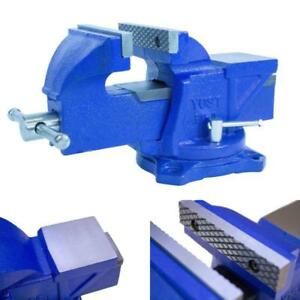 New Blue Fsv 4 4 Heavy duty Forged Steel Bench Vise With 120 degree Swivel Base