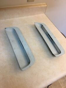 1967 1968 Oem Ford Mustang Hood Scoop Inserts W Grill And Turn Signal Housings