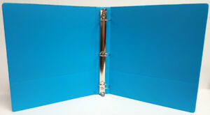 1 Basic 3 ring Binder W Two Inside Pockets Cyan Case Of 12