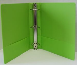 1 Basic 3 ring Binder W Two Inside Pockets Lime Case Of 12