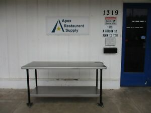 Stainless Steel 72 X 30 Work Table prep Table W lower Shelf 3679