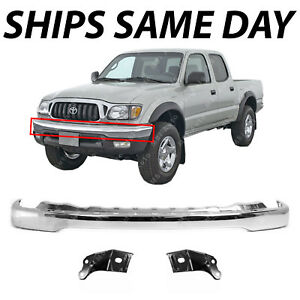 New Steel Chrome Front Bumper Brackets Combo Kit For 2001 2004 Toyota Tacoma