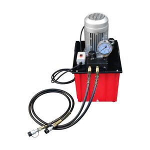 Double Acting 10 000 Psi Hydraulic Pump Manual Valve 9 5 Gallon 110v Electric