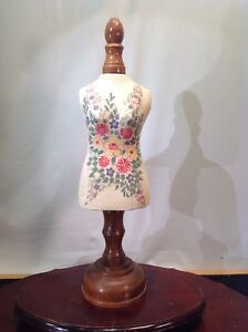 Vtg Folk Art Seamstress Or Taylor Shop Mannequin Torso Decoration 18