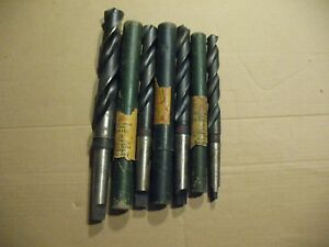 Federal Standard Usa Taper Shank Twist Drills High Speed Lot Of 4